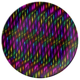 Ilustraciones de cristal del extracto del mosaico  platos de cerámica
