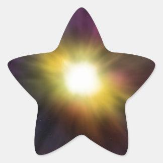 Ilustraciones de estallido del espacio de pegatina forma de estrella