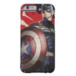 Ilustraciones de la bandera de capitán América Funda De iPhone 6 Barely There