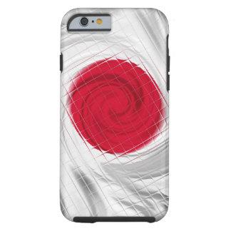 Ilustraciones de la bandera de Japón Funda De iPhone 6 Tough