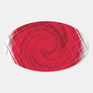 Ilustraciones de la bandera de Japón Pegatina Ovalada