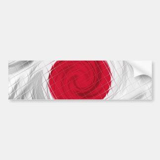 Ilustraciones de la bandera de Japón Pegatina Para Auto