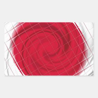 Ilustraciones de la bandera de Japón Pegatina Rectangular