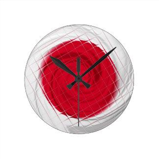 Ilustraciones de la bandera de Japón Reloj Redondo Mediano