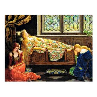 Ilustraciones de la bella durmiente tarjetas postales