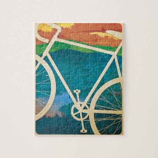 Ilustraciones de la bici - ROMPECABEZAS con lata -