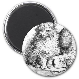 Ilustraciones de la demostración del gato imán redondo 5 cm