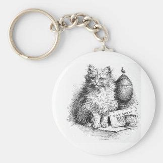 Ilustraciones de la demostración del gato llavero redondo tipo pin