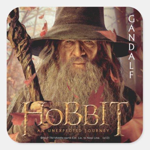 Ilustraciones de la edición limitada: Gandalf Calcomania Cuadradas Personalizadas