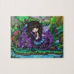 """Ilustraciones de la fantasía de """"Alicia y de Alian Puzzle"""