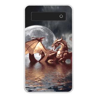 Ilustraciones de la fantasía del dragón y de la batería portátil
