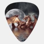 Ilustraciones de la fantasía del dragón y de la lu uñeta de guitarra