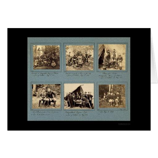 Ilustraciones de la fotografía con Custer 1862 Tarjeta De Felicitación