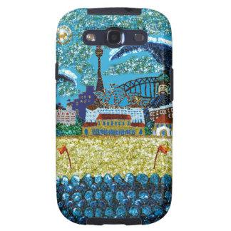 Ilustraciones de la lentejuela de la galaxia S el  Samsung Galaxy S3 Cobertura