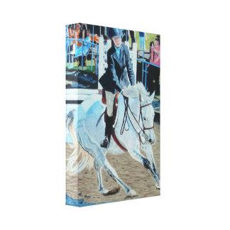 Ilustraciones de la lona de Horseshow Impresion En Lona