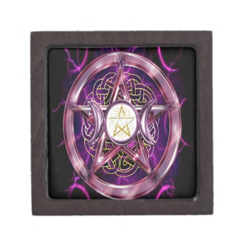Ilustraciones de la púrpura del pentáculo cajas de regalo de calidad