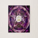 Ilustraciones de la púrpura del pentáculo puzzles con fotos