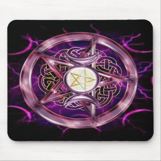 Ilustraciones de la púrpura del pentáculo tapetes de raton