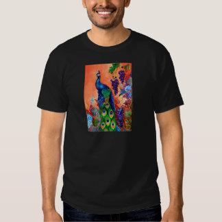 Ilustraciones de la uva del pavo real playera