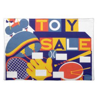 Ilustraciones de la venta del juguete del vintage manteles individuales