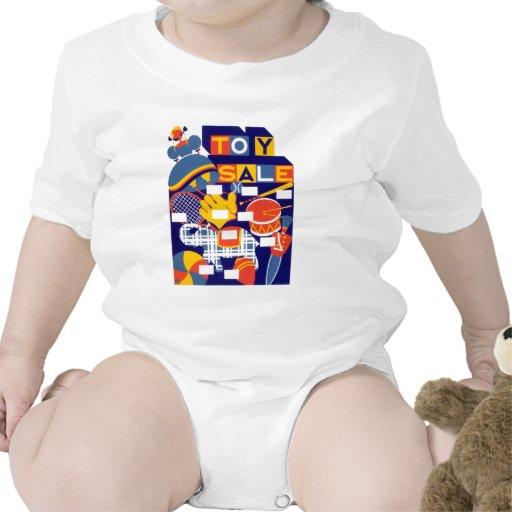 Ilustraciones de la venta del juguete del vintage camisetas