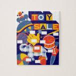Ilustraciones de la venta del juguete del vintage rompecabeza con fotos