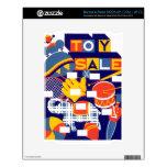 Ilustraciones de la venta del juguete del vintage skins para elNOOK