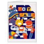 Ilustraciones de la venta del juguete del vintage felicitaciones