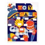 Ilustraciones de la venta del juguete del vintage postal