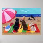 Ilustraciones de Labradors de la brisa del verano Posters