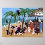 Ilustraciones de Labradors de las vacaciones de Posters