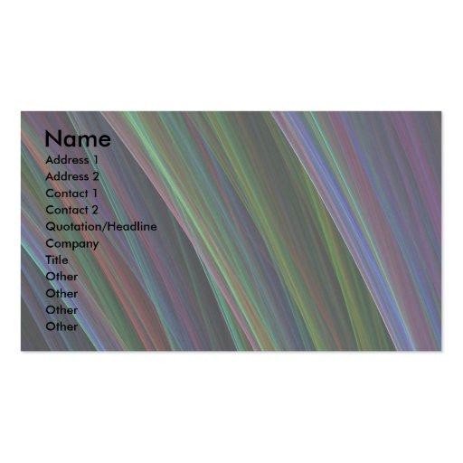 """Ilustraciones de las """"plumas coloridas"""" tarjetas de visita"""