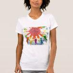 Ilustraciones de las técnicas mixtas de la paz del camisetas