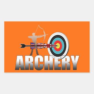 Ilustraciones de los Archers de la blanco de Pegatina Rectangular