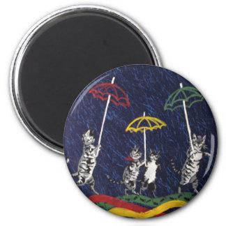 Ilustraciones de los gatos del paraguas de Louis W Imán Redondo 5 Cm