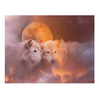 Ilustraciones de los lobos del lobo postales