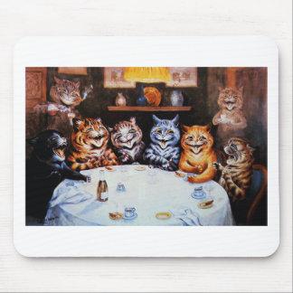 Ilustraciones de Louis Wain del fiesta de cena del Alfombrillas De Raton