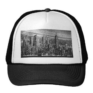 Ilustraciones de New York City Gorros