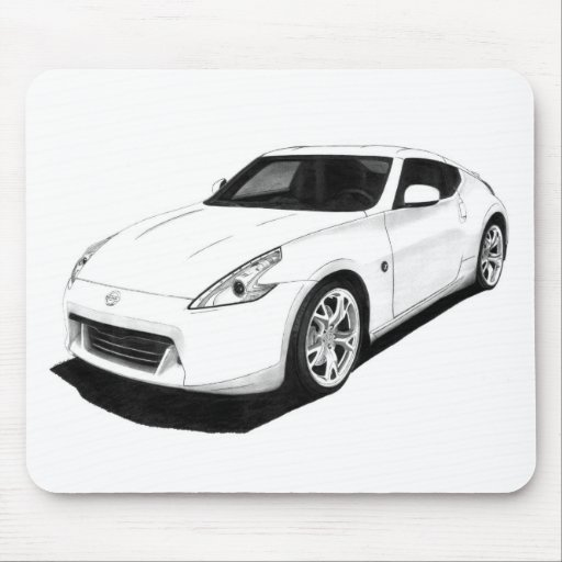 Ilustraciones de Nissan 370Z Alfombrilla De Ratones