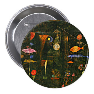 Ilustraciones de Paul Klee, magia de los pescados Pin Redondo De 3 Pulgadas