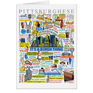 Ilustraciones de Pittsburghese de la diversión de  Felicitación