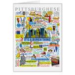 Ilustraciones de Pittsburghese de la diversión de Tarjeta De Felicitación