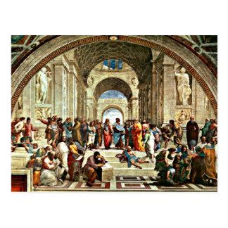 """Ilustraciones de Raphael """"escuela de Atenas"""" Tarjetas Postales"""