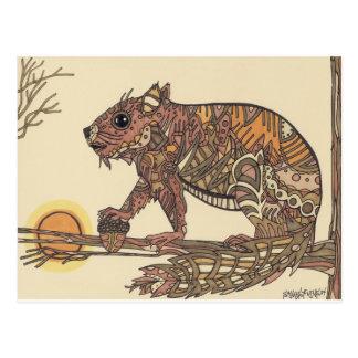 Ilustraciones de Squirell- de Sally Stevens Postal