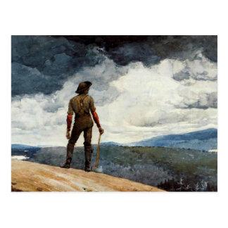 Ilustraciones de Winslow Homer, el leñador Postal