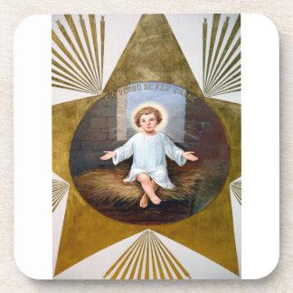 Ilustraciones decorativas de Jesús del bebé Posavasos De Bebida