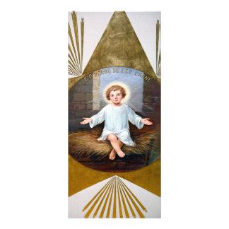 Ilustraciones decorativas de Jesús del bebé Tarjetas Publicitarias A Todo Color