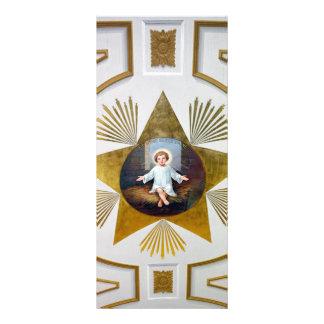 Ilustraciones decorativas de Jesús del bebé Diseños De Tarjetas Publicitarias