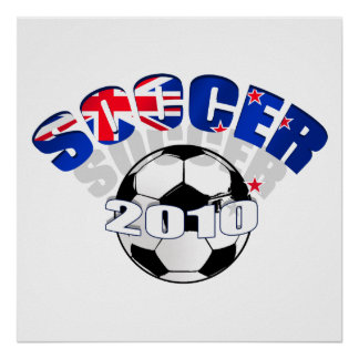 Ilustraciones del balón de fútbol de la bandera de póster
