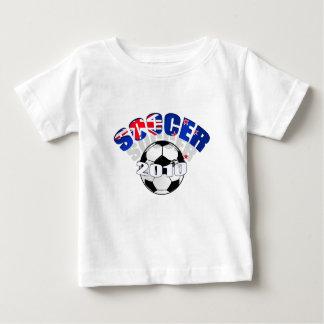 Ilustraciones del balón de fútbol de la bandera de remeras